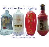 Máquina de impressão de tela de garrafa de vinho de vidro