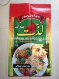 Top vender impressão personalizada 25kg 50kg sacos tecidos de PP de arroz