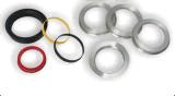 플라스틱 허브 각종 색깔을%s 가진 중심 바퀴 변죽 반지