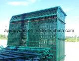三角のくねりによって溶接される金網の塀およびくねりの庭の金網の塀