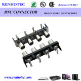 Amphenol imperméables en plastique 4 port BNC femelle connecteur PCB