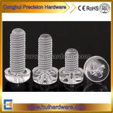 Schroef van Phillips van het Type van polycarbonaat de Duidelijke Pan Hoofd Plastic