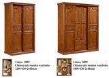 Móveis de madeira de carvalho chinês de alta qualidade, Kd Furniture, Wardrobe (602)