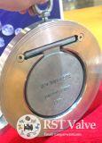 Aço Inoxidável Não-Retorno Único disco gire a válvula de retenção de wafers