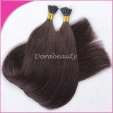 Extensões de cabelo de unha preta unidas ao brasão
