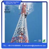 Torre de aço da estrutura da antena de micrôonda do ângulo quatro equipado com pernas