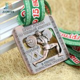De douane Ontworpen Telling van de Medaille van Powerlifting van het Metaal van het Messing Olympische