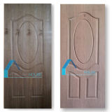 Piel moldeada de la puerta de la madera contrachapada con la chapa de la cereza/de madera de Wenge