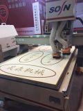 Máquina do router do CNC das cabeças do Woodworking três para a mobília