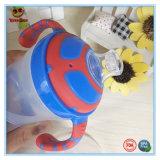 Bebé alta calidad de la taza de entrenamiento con los colores del doble de la manija