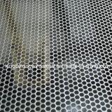 구멍 관통되는 금속 메시의 둘레에 직류 전기를 통하는