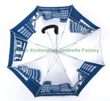 Paraguas de aluminio automáticos impresos del golf con las costillas de la fibra de vidrio (GOL-0027AFA)
