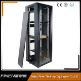 estante del servidor 19-Inch, cabina derecha de la red con el vidrio Tempered que bloquea puertas