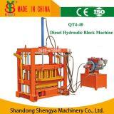 디젤 엔진 Concrete Hollow Block Making Machine 또는 Brick Making Machine Qt4-40