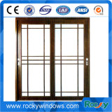 Frame de alumínio indicador de vidro de vidro de deslizamento de Windows/escritório/indicador deslizamento interior do escritório