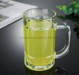 OEM de Mok van het Glas van het Drinkwater van de Druk van het Embleem, de Kop van het Bier van het Glas