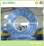 Tubo llano claro transparente flexible de la manguera del agua del PVC del plástico