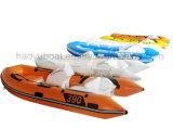 2017 Novo Modelo 4m de barco inflável rígida costela390c barco de borracha Hypalon com marcação CE de barco de pesca
