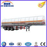3 petróleo crudo del árbol 45cbm/cargo/diesel/Petro/gasolina/combustible de aluminio/del tanque del carro acoplado utilitario semi con el silo 7