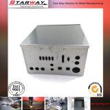 Подгонянная коробка металла изготовления металлического листа при серый покрынный порошок