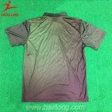 La stampa sublimata 3 tasti ammassa abiti sportivi della maglietta di polo degli uomini