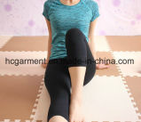 Roupa rapidamente seca do exercício para mulheres/senhora, roupa Running, desgaste da ioga