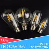 Lâmpada antiga do bulbo do diodo emissor de luz do vintage do bulbo do diodo emissor de luz Edison de E27 E14
