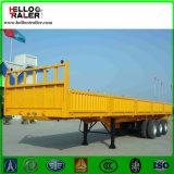 半三車軸バルク貨物自動車のトラックのトレーラー50tの重いローディングの貨物トレーラー