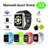 Bluetooth 인조 인간 A1를 위한 SIM 카드 슬롯을%s 가진 지능적인 시계 전화