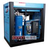 Type compresseur industriel de refroidissement à l'air de vis de rotor de l'air deux