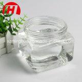De de vierkante Honing van het Glas/Kruik van de Slasaus met het Deksel van het Metaal