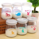 100ml Pudding en verre Bouteille / Pudding Jar / Jelly Cup / Yogurt Jar