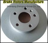Certificat Ts16949 et rotors approuvés de frein de certificat de GV