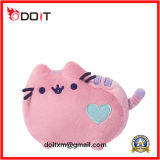 Almofada cor-de-rosa, peluche, recheado, gato, brinquedo, recheado, animal