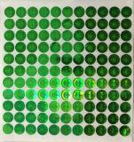 Etiqueta de láser verde, medio ambiente