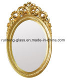 espejo oval helado fuente del cuarto de baño del espejo de plata de la fábrica de 3m m