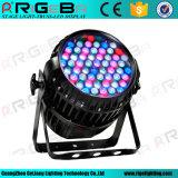 À prova de DMX 54X3w LED Zoom RGBW PAR Luz CAN