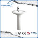 20 '' - 22 '' Banheiro Ceramic Pedestal Basin in White (ACB0014)