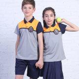 2016 Unsex le polo 100% d'école de coton de chemise de polo d'uniforme scolaire