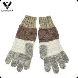 줄무늬 보기에 있는 겨울 세트가 최신 판매 최신유행 남녀 공통 잡색으로 한 털실에 의하여 뜨개질을 했다