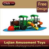 Campo de jogos ao ar livre aprovado CE das crianças plásticas do estilo do trem