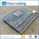 Cage de palette soudée par mémoire de treillis métallique