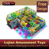 CE thème coloré en plastique du château de terrain de jeux intérieur (ST1403-10)