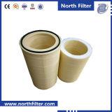 99.9% Cartouche plissée de filtre à air de polyester de cylindre