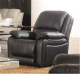 Sofa de cuir véritable de salle de séjour (C873)