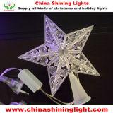 휴일 크리스마스 나무 훈장 별 LED 빛