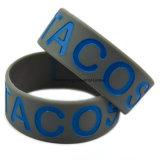 Braceletes relativos à promoção personalizados logotipo personalizados do silicone