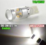 Indicatore luminoso dell'automobile LED del CREE di T10 30W
