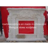 Lareira de mármore com rendas florais brancas (SY-MF020)