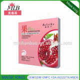 Eco-Fruit Fiber Breathing Cuidados com a pele Whitening Máscara facial de seda